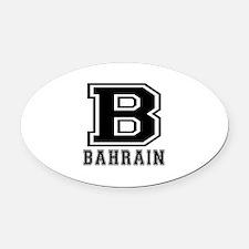 Bahrain Designs Oval Car Magnet
