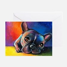 French Bulldog 5 Greeting Cards (Pk of 10)