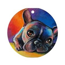 French Bulldog 5 Ornament (Round)