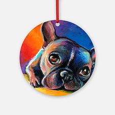 French Bulldog 5 Ornament (Round)