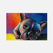 French Bulldog 5 Rectangle Magnet