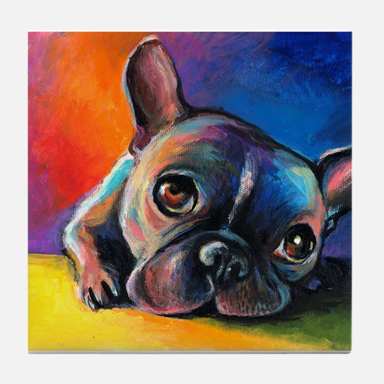French Bulldog 5 Tile Coaster