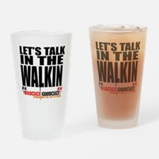 Let's Talk Drinking Glass