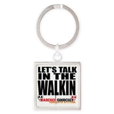 Let's Talk Square Keychain