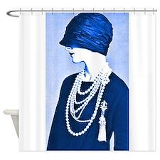 Blue Cloche Shower Curtain