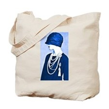 Blue Cloche Tote Bag