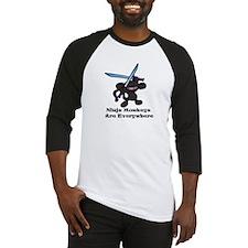 Black Ninja Monkey Overhead w Baseball Jersey