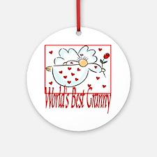 World's Best Granny Ornament (Round)