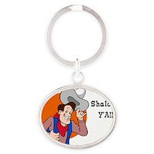 Shalom YAll Oval Keychain