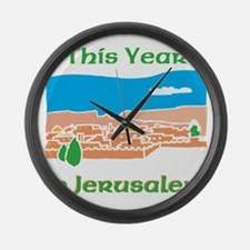 This Year in Jerusalem Large Wall Clock