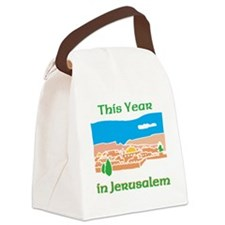 This Year in Jerusalem Canvas Lunch Bag