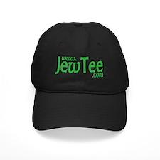 Jew Tee Logo- Green on Black Baseball Hat