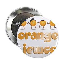 """Orange Jews Dancing WHITE 2.25"""" Button"""