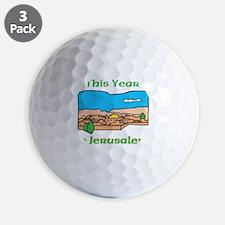 This Year- Jerusalem WHITE Golf Ball