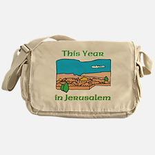 This Year- Jerusalem WHITE Messenger Bag