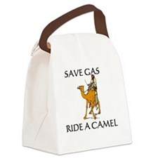Save Gas Canvas Lunch Bag