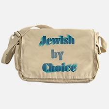 JewishByChoice-blue Messenger Bag