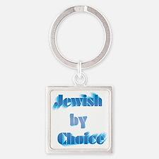 JewishByChoice-blue Square Keychain
