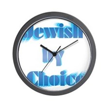 JewishByChoice-blue Wall Clock