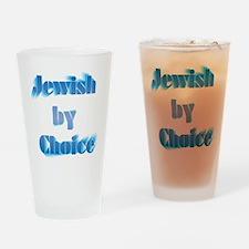 JewishByChoice-blue Drinking Glass