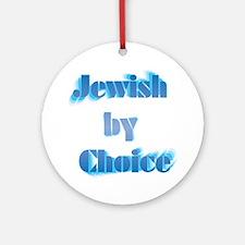 JewishByChoice-blue Round Ornament