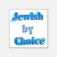 "JewishByChoice-blue Square Sticker 3"" x 3"""