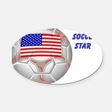 Future Soccer Star Oval Car Magnet