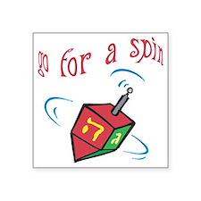 """Go 4 spin Square Sticker 3"""" x 3"""""""