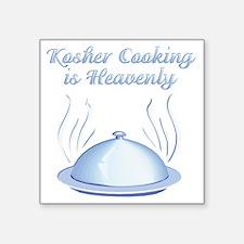 "KosherCooking-WHITE Square Sticker 3"" x 3"""
