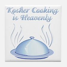 KosherCooking-WHITE Tile Coaster
