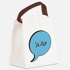 Allo-White Canvas Lunch Bag