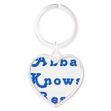 Abba Knows Best Heart Keychain