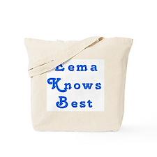 Eema Knows Best 10 Tote Bag