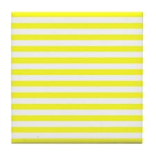 Navy Yellow Tile Coaster