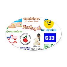 JewTee Medley Oval Car Magnet