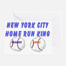 NYC Home Run King Greeting Card