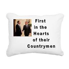 Bush and Blair Rectangular Canvas Pillow