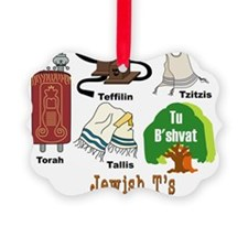 Jewish Ts Picture Ornament