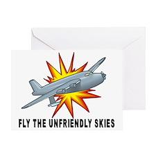 Fly Unfriendly Skies Greeting Card