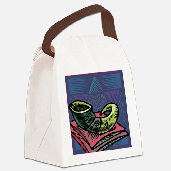 Jewish New year Card-Shofar 2 Canvas Lunch Bag