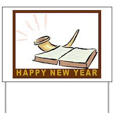 Jewish New Year-Book and Shofar Yard Sign