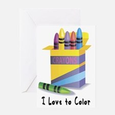 I Love to Color Greeting Card