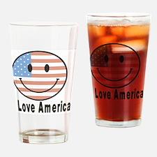I Love America 2 Drinking Glass