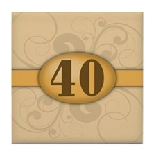 40th Birthday / Anniversary Tile Coaster