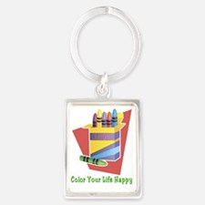 Color Life Happy Portrait Keychain