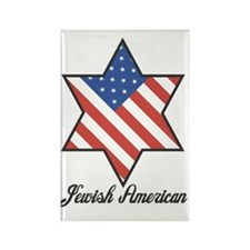 Jewish American Rectangle Magnet