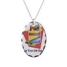 Color your life 2 Necklace Oval Charm