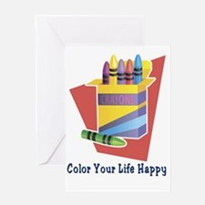 Color your life 2 Greeting Card