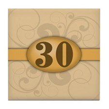 30th Birthday / Anniversary Tile Coaster