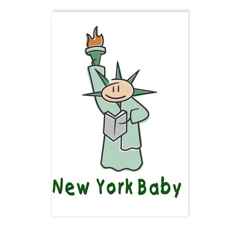 NY Baby Postcards (Package of 8)